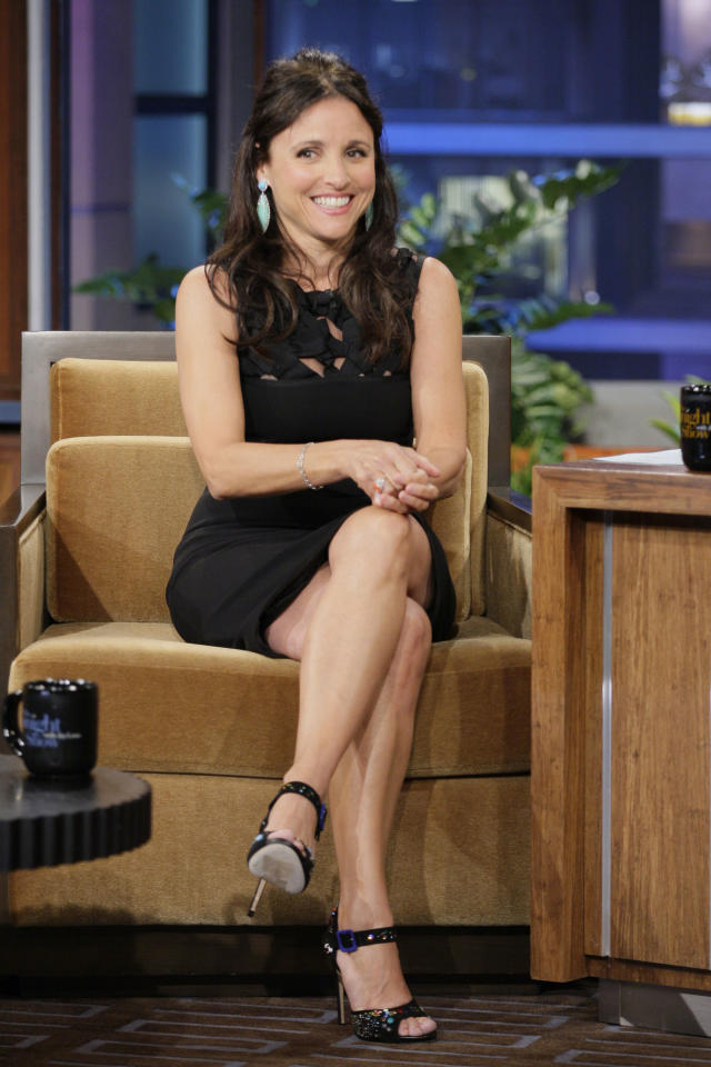 THE TONIGHT SHOW WITH JAY LENO -- Episode 4264 -- Pictured: Actress Julia Louis-Dreyfus during an interview on June 6, 2012 -- (Photo by: Stacie McChesney/NBC/NBCU Photo Bank via Getty Images)