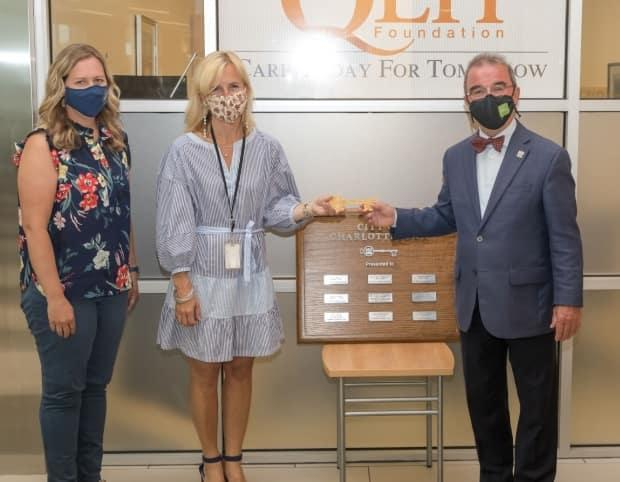 The keys to the city were presented in a ceremony at Queen Elizabeth Hospital. (City of Charlottetown - image credit)