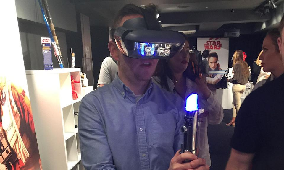 <p>Battle Kylo Ren through the magic of augmented reality. (Yahoo Movies UK/Disney) </p>