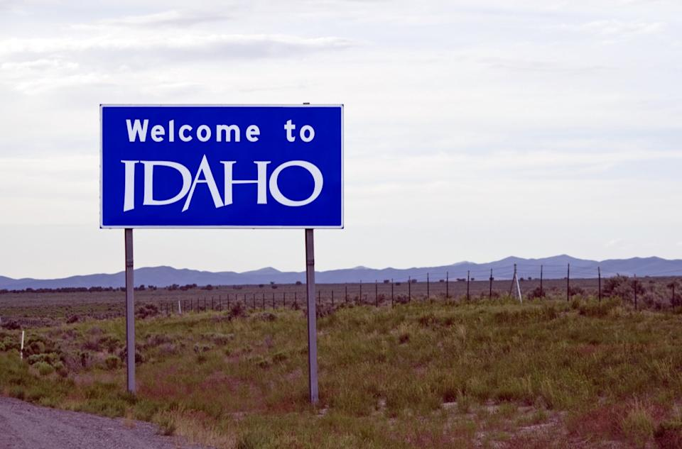 idaho state welcome sign
