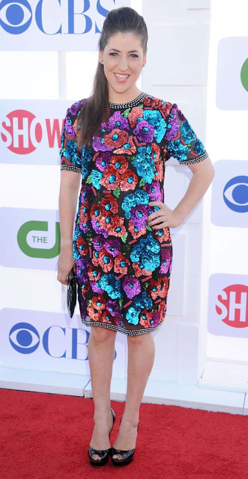 "Mayim Bialik (""The Big Bang Theory"") arrives at the CBS, Showtime, and The CW Summer 2012 Press Tour Party on July 29, 2012 in Beverly Hills, California."