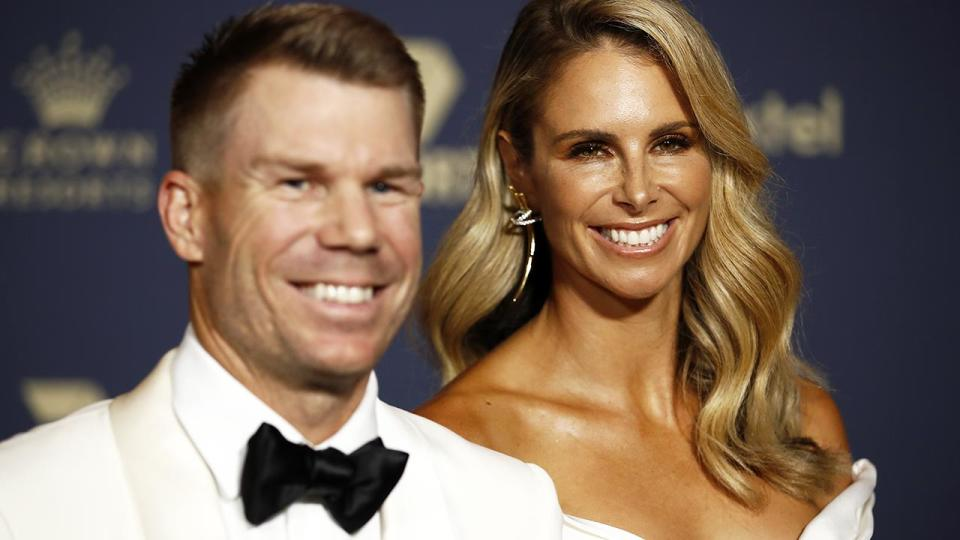 David and Candice Warner, pictured here at the the 2020 Cricket Australia Awards.