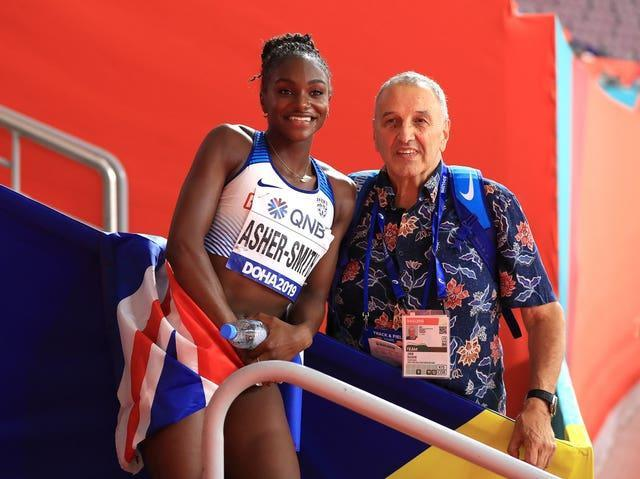 John Blackie (right) has played a key role in Asher-Smith's career