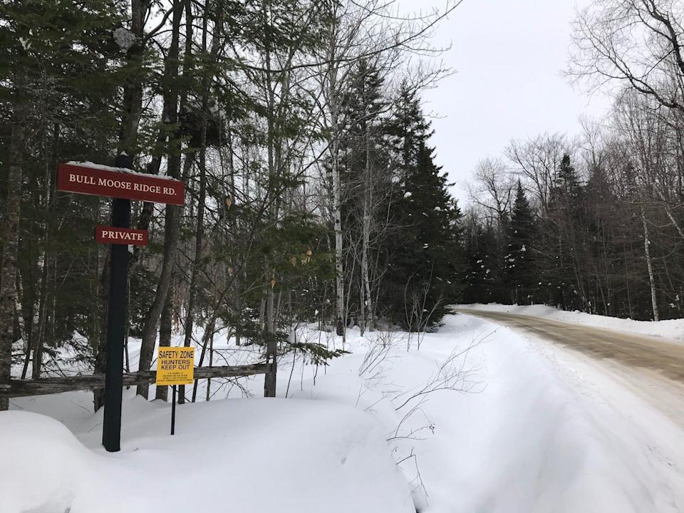 Bull Moose Ridge Road in Stowe, Vt., is a subdivision with just nine houses on 10-acre lots. As seen on Feb. 18, 2021.