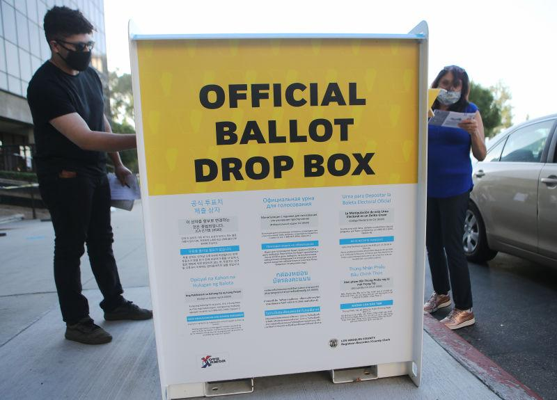 What An Official Ballot Box Looks Like in California