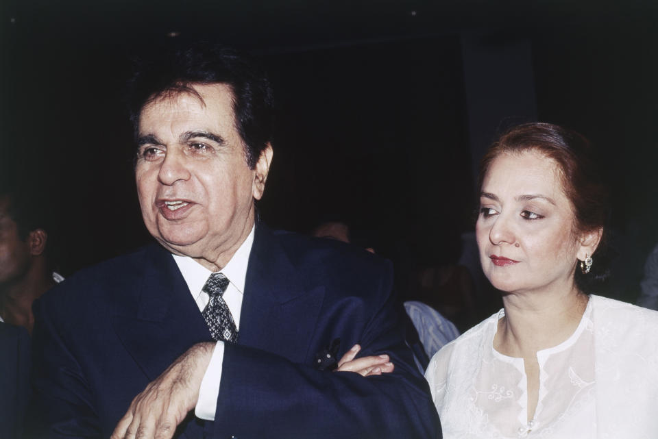 Portrait of Dilip Kumar and Saira Banu. (Photo by Dinodia Photos/Getty Images)