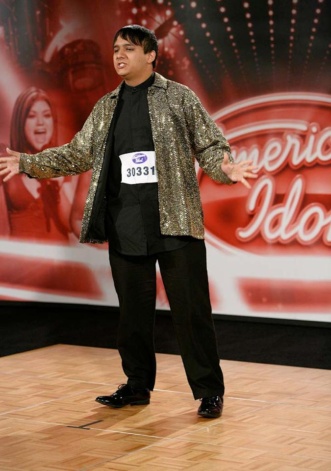 Omaha Audition: Johnny Escamilla, 18, Scottsbluff, NE, performs in front of the judges on the 7th season of American Idol.