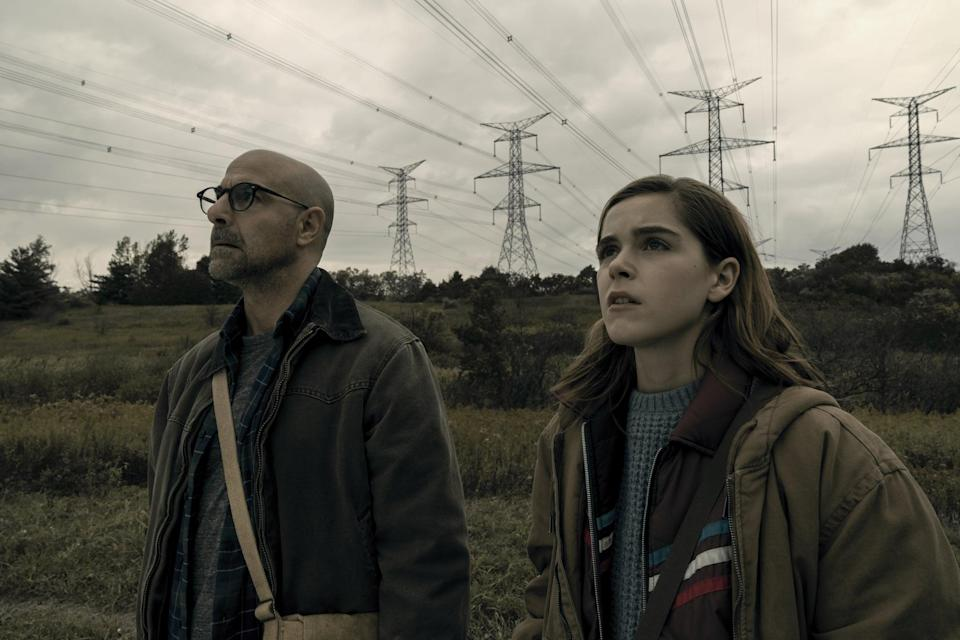 """<p>A terrifying creature is attacking human prey by sound, but 16-year-old Ally Andrews (Kiernan Shipka) is deaf. When they encounter an eerie cult, things only get worse. </p> <p><a href=""""https://www.netflix.com/title/81021447"""" class=""""link rapid-noclick-resp"""" rel=""""nofollow noopener"""" target=""""_blank"""" data-ylk=""""slk:Watch The Silence on Netflix now."""">Watch <strong>The Silence</strong> on Netflix now.</a></p>"""