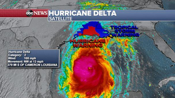 PHOTO: Hurricane Delta.  (ABC News)