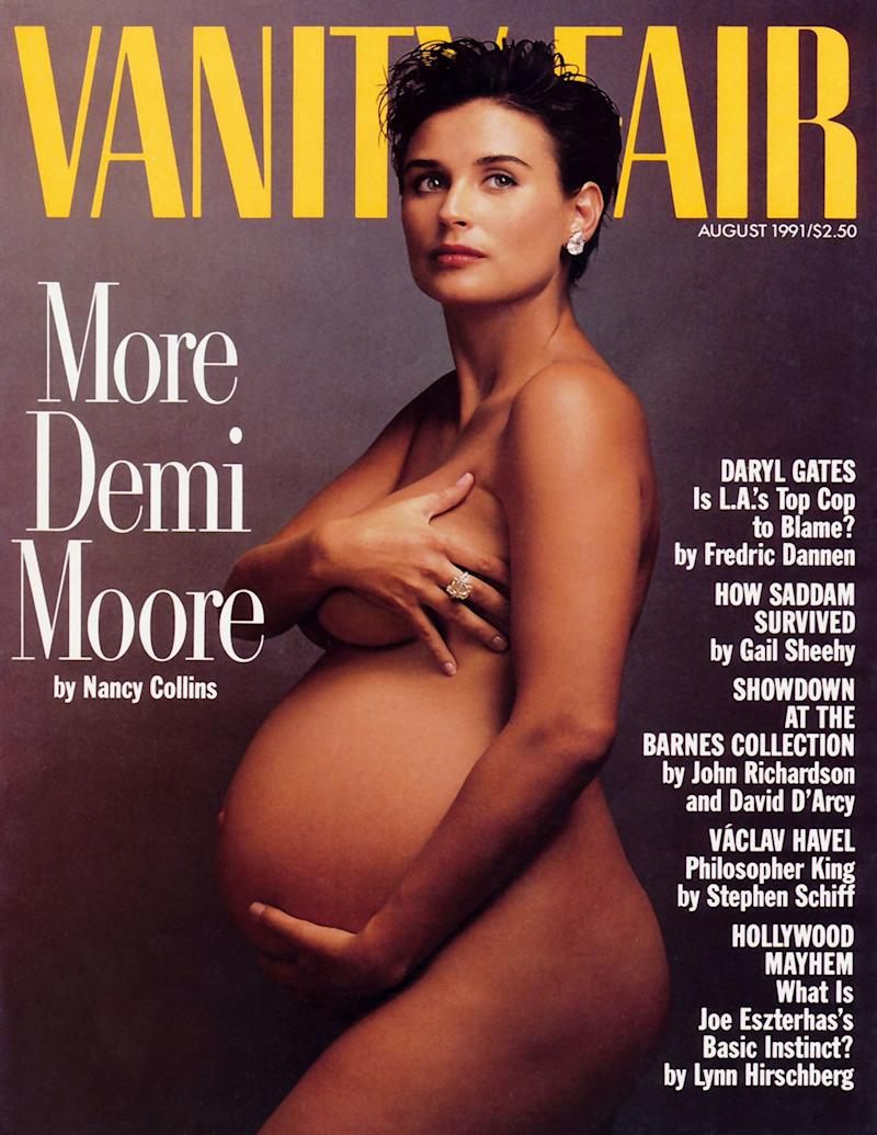 Demi Moore on the front of Vanity Fair in August 1991. [Photo: Vanity Fair]