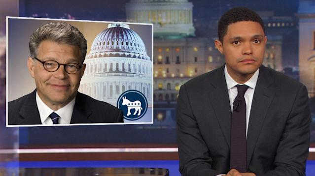 """""""The Daily Show's"""" Trevor Noah was particularly disappointed at the latest revelation concerning a groper-in-high-places."""