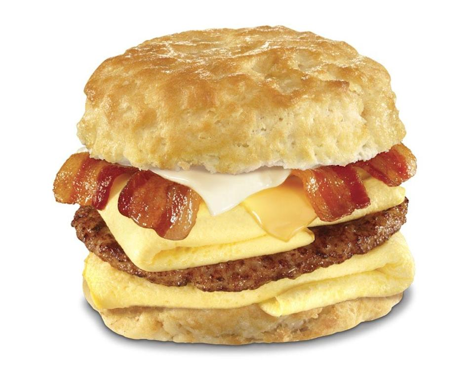 hardees bacon, egg and cheese biscuit