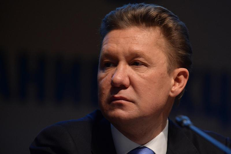 Russia's gas giant Gazprom CEO, Alexei Miller, in Moscow, on June 27, 2014 (AFP Photo/Vasily Maximov)