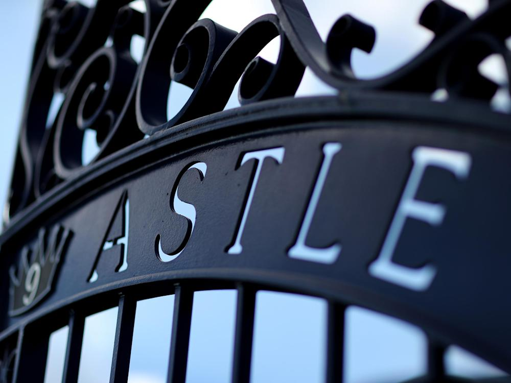 Gates outside West Brom's ground commemorate the late Astle: Getty