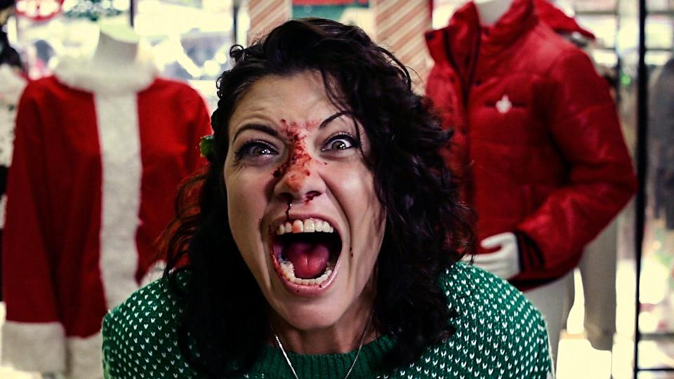 """Things get bloody at a retail store during the holidays in """"All Sales Fatal,"""" one of 24 horror shorts included in the seasonal anthology """"Deathcember.'"""