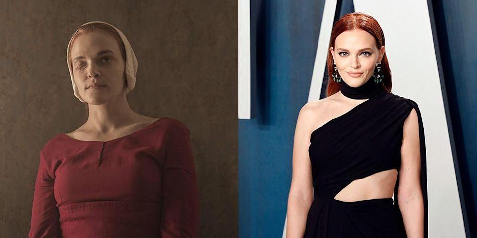 <p>Clearly <em>The Handmaid's Tale </em>has a very good makeup department, as actress Madeline Brewer has both of her eyes in real life. The actress plays Ofwarren in Hulu's dystopian drama.</p>
