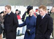 Even though the church grounds were covered in snow in 2009 for the annual church service, it didn't stop the royal and their fans from turning up on the day. Photo: Getty Images