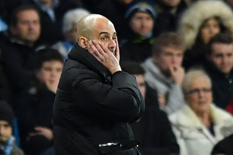 Manchester City's manager Pep Guardiola, seen on the touchline during their English Premier League match against Stoke City, at the Etihad Stadium in Manchester, on March 8, 2017