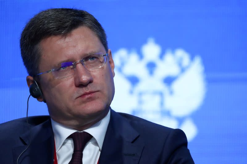 FILE PHOTO: Russian Energy Minister Alexander Novak attends the Energy Week International Forum in Moscow