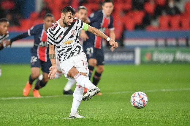 Bruno Fernandes, who scored against PSG on Tuesday, arrived in January