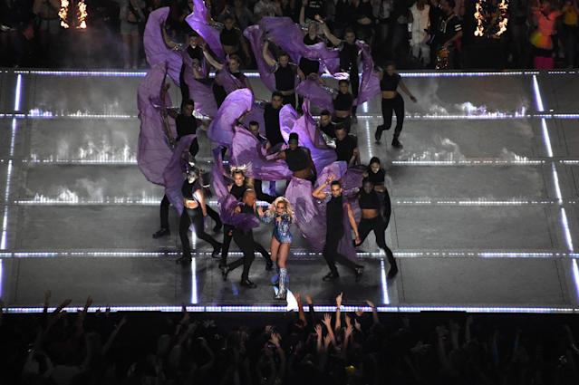 <p>Lady Gaga performs during the halftime show for Super Bowl LI at NRG Stadium. Mandatory Credit: Richard Mackson-USA TODAY Sports </p>