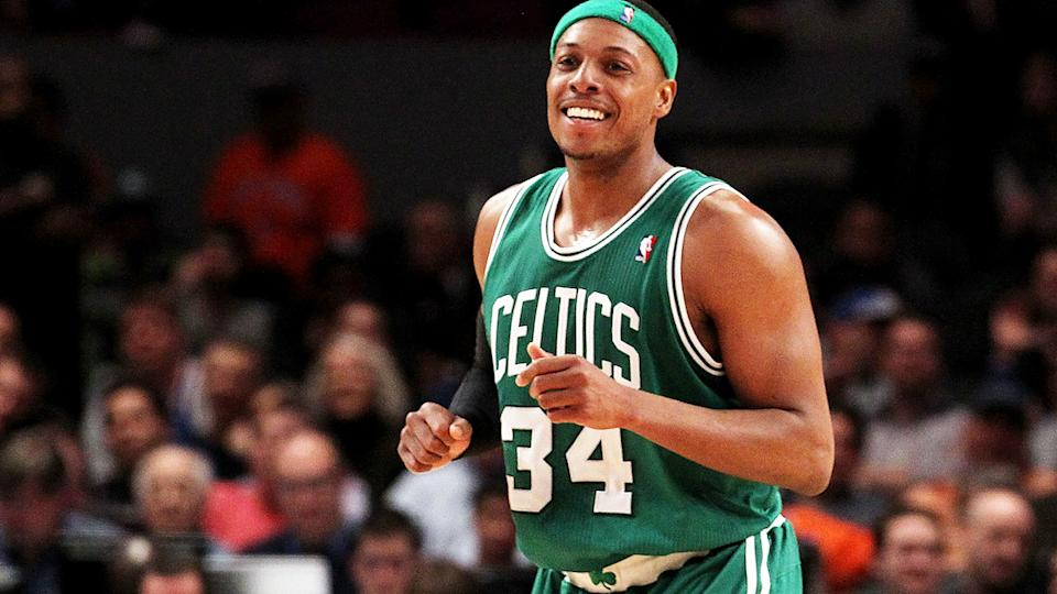 Paul Pierce, pictured here in action for the Boston Celtics during the NBA Playoffs in 2011.
