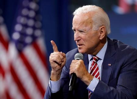 FILE PHOTO: U.S. Democratic presidential candidate and former U.S. VP Biden speaks during a forum held by gun safety organizations the Giffords group and March For Our Lives in Las Vegas