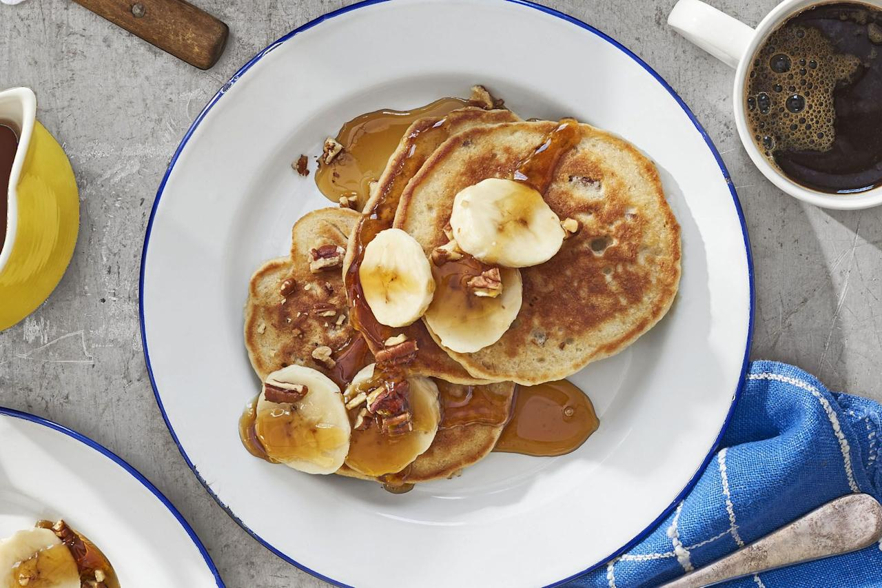 """<p>To really surprise him outside of your thoughtful <a href=""""https://www.countryliving.com/shopping/gifts/g1465/fathers-day-gift-guide/"""">Father's Day gifts</a>, treat your Dad to a massive Father's Day brunch this year, complete with all his favorite breakfast items. Give the man in charge of flipping the flapjacks the day off by showing him how his skills in the kitchen have rubbed off on you. With several recipes for brunch staples, including banana pancakes, chicken and waffles, and French toast bakes, there are several <a href=""""https://www.countryliving.com/food-drinks/g4356/fathers-day-breakfast-ideas/"""">Father's Day breakfast ideas</a> to give your dad a huge range to choose from. </p><p>Whether it's a small meal with the two of you or a family gathering to celebrate all the dads in your life, there are dishes that will feed any size crowd (and <a href=""""https://www.countryliving.com/food-drinks/g1659/summer-drink-recipes/"""">summer cocktails</a> to toast with). Cook up some delicious sweet potato breakfast tacos or a breakfast pizza for a small brunch. Or, opt for the glazed blueberry rolls and croissant French toast bake if you're cooking for a larger gathering. These recipes are sure to keep you feeling full so you can tackle all those <a href=""""https://www.countryliving.com/life/g4361/fathers-day-activities/"""">Father's Day activities</a> you have planned. So this year, give Dad and extra-special gift by treating him to a Father's Day brunch of all his favorite breakfast recipes.</p>"""