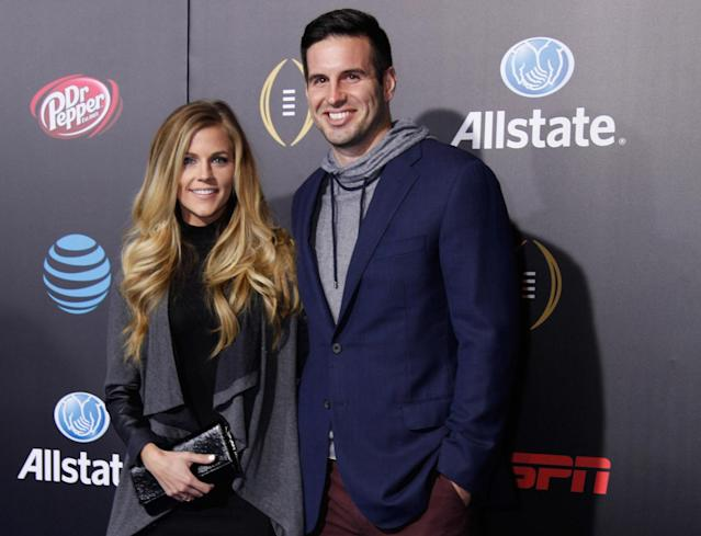 Samantha and Christian Ponder's newborn baby, Price, underwent successful emergency surgery on Monday morning, Sam announced on Instagram. (Mike Moore/Getty Images)