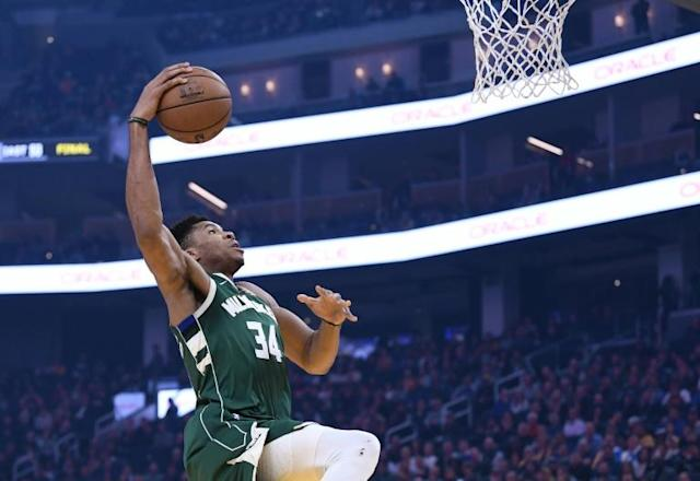 Milwaukee Bucks Giannis Antetokounmpo scored 32 points against Portland after coming off a season low of just 13 points against Sacramento (AFP Photo/Thearon W. Henderson)