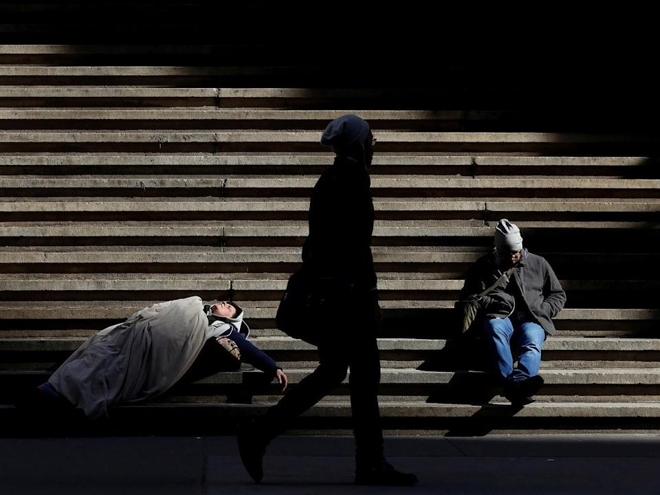 Government data shows that the number of homeless elderly people has surged more than two times more than homelessness overall: Reuters