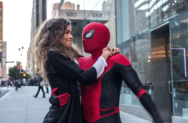MJ (Zendaya) and Spider-Man (Tom Holland).  (Photo: JoJo Whilden/Sony)