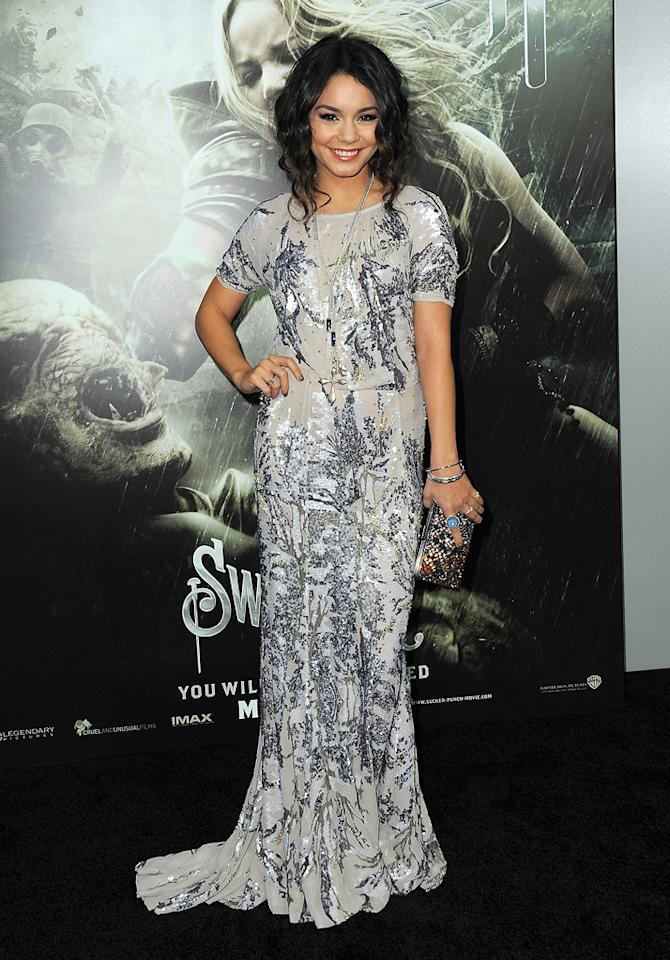 """<a href=""""http://movies.yahoo.com/movie/contributor/1808436979"""">Vanessa Hudgens</a> at the Los Angeles premiere of <a href=""""http://movies.yahoo.com/movie/1810133258/info"""">Sucker Punch</a> on March 23, 2011."""