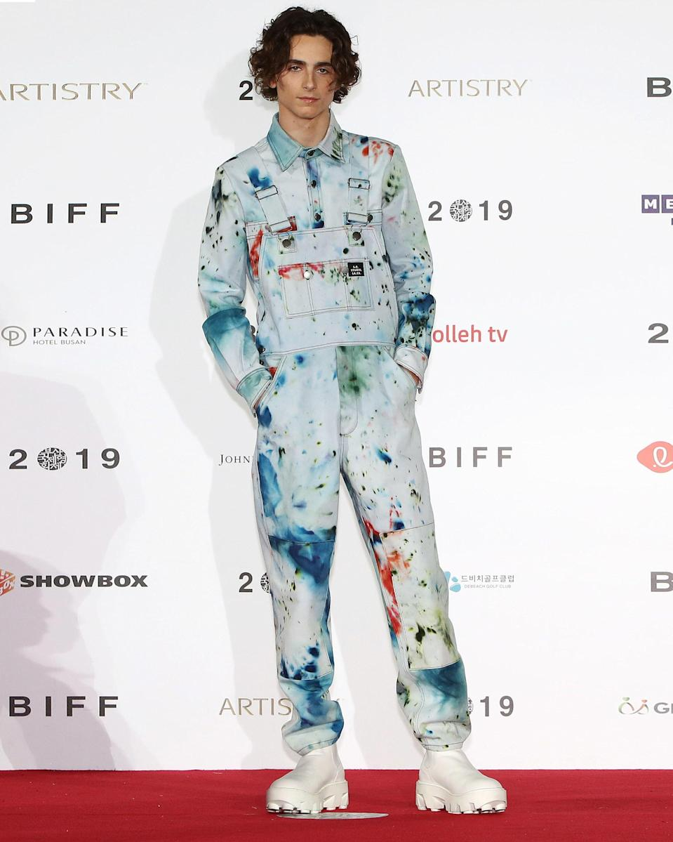 """<h1 class=""""title"""">October 8: Timothée Chalamet</h1> <div class=""""caption""""> Paint me like one of your Sterling Rubys. </div> <cite class=""""credit"""">Getty Images</cite>"""