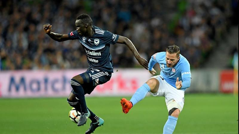 Thomas Deng, left, will be part of the Olyroos squad for an U-23 tournament in China.
