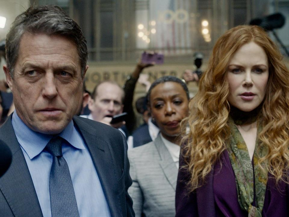 Hugh Grant, Noma Dumezweni and Nicole Kidman in 'The Undoing'Sky Atlantic