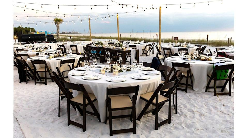 """<p>The name alone is apropos for your big day, and it's just the beginning of the romantic magic of <a href=""""https://www.floridastateparks.org/parks-and-trails/lovers-key-state-park"""" rel=""""nofollow noopener"""" target=""""_blank"""" data-ylk=""""slk:Lovers Key State Park"""" class=""""link rapid-noclick-resp"""">Lovers Key State Park</a>, with its natural beauty and pristine beaches. The small barrier island off Fort Myers—once only accessible by boat—hosts intimate weddings throughout the year and a special vow renewal ceremony every Valentine's Day for up to 120 couples. Couples can book the park's large gazebo steps from the Gulf of Mexico, or choose from one of two beach locations. The state park offers nature tours; kayak, canoe, stand-up paddle board, and bike rentals; and world-class fishing, so guests will have plenty to keep them busy when they're not celebrating you.</p>"""