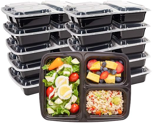 10-Pack Durahome Meal Prep Containers with Lids (Photo: Amazon)