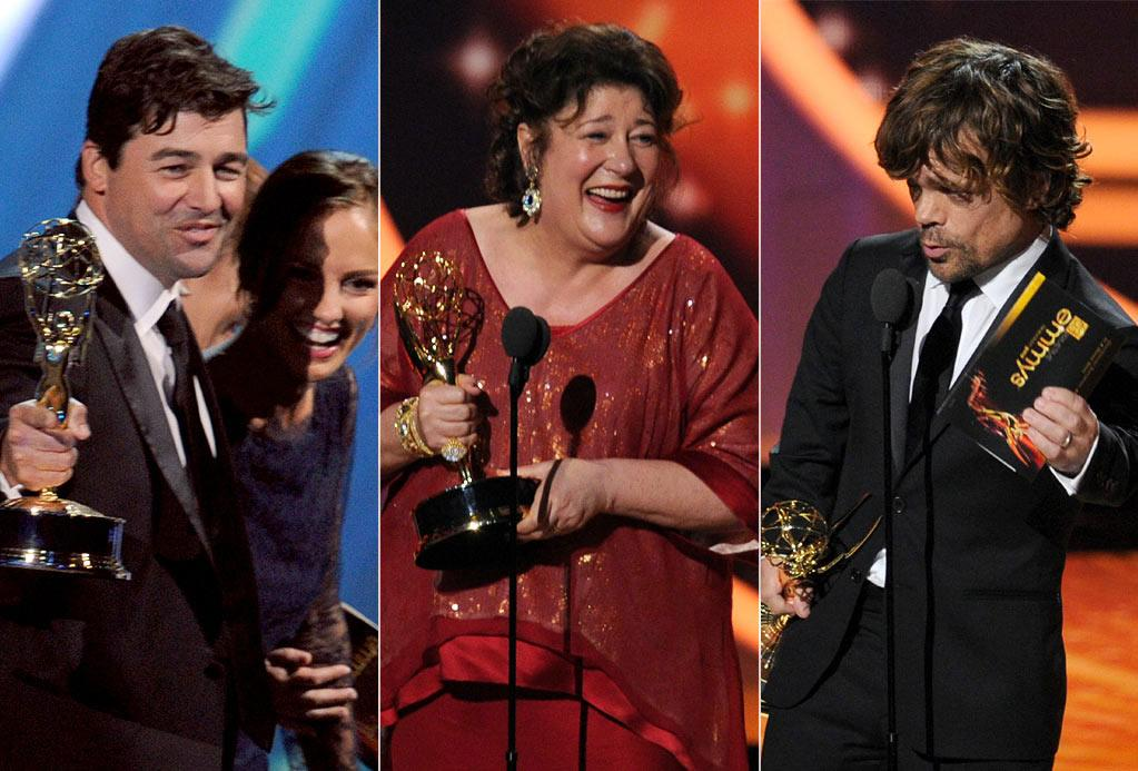 """<b>Best: Underdog Love</b><br> The drama awards were fantastic this year: """"Friday Night Lights"""" took home two trophies (one for directing, one for Kyle Chandler), Margo Martindale was recognized for her """"Justified"""" excellence, and Peter Dinklage repped """"Game of Thrones"""" in his supporting actor win -- and here, we were all ready to call snub in all those categories. Texas, Harlan County, and Casterly Rock forever!"""