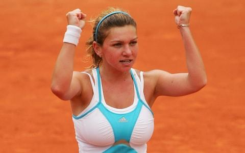 Simona Halep revealed that she had a breast reduction to improve her sporting performance - Credit: GETTY IMAGES