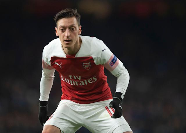 Mesut Ozil in action for Arsenal (Photo by TF-Images/Getty Images)