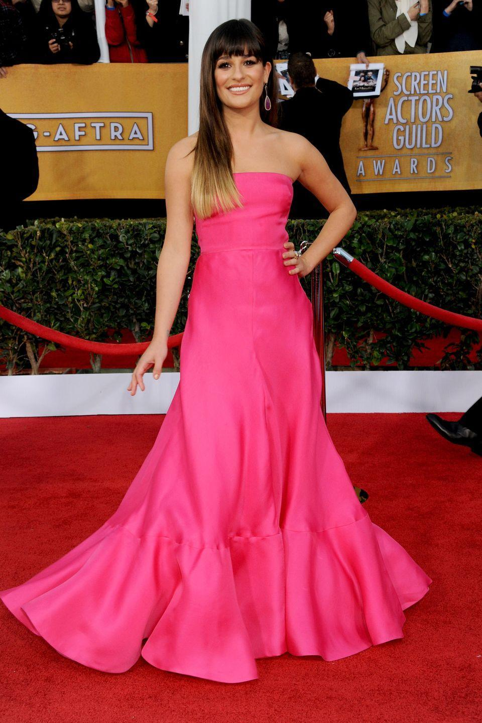 <p>At the 2012 Screen Actors Guild Awards, <em>Glee</em> actress Lea Michele showed us what Princess Aurora's gown would've looked like if it were designed by Valentino.</p>