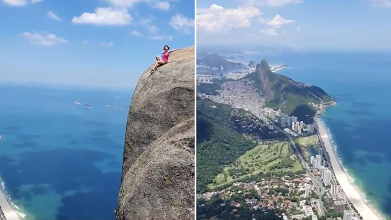 Tourist hot spot, Pedra da Gávea, where self described thrill seekers go to take the perfect social media photo.