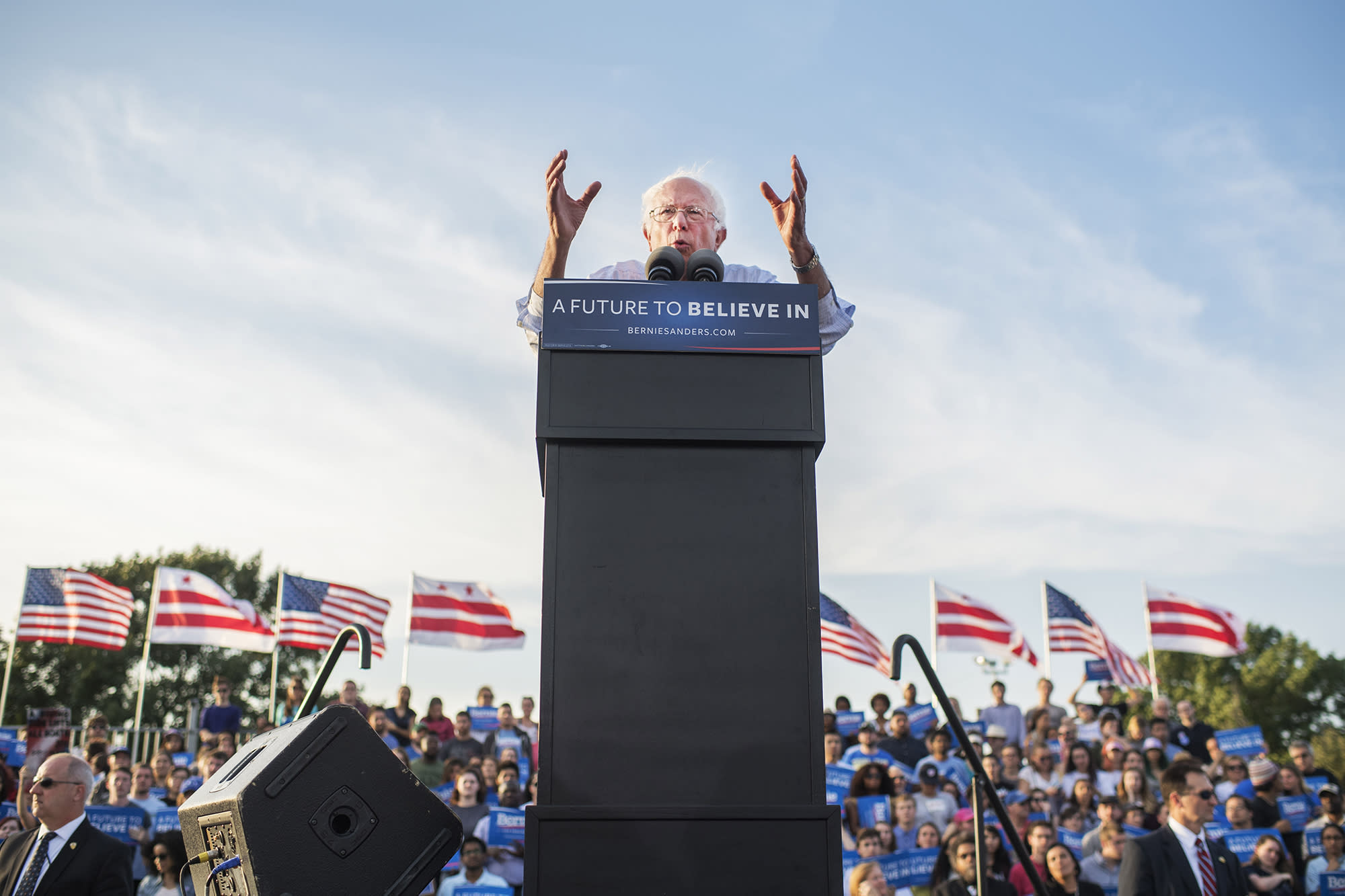 """His candidacy has shown the depths of frustration. I'm glad he ran,"" said Laura Richards, a longtime D.C. political activist, about Sanders. (Photo: Tom Williams/CQ Roll Call via Getty Images)"