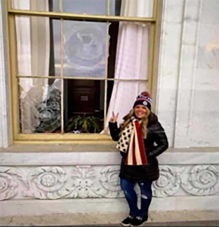 Image: Jenna Ryan at the U.S. Capitol (U.S. Attorney's Office)