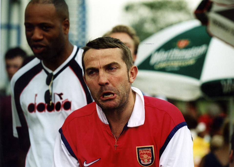 Comic Bradley Walsh at the Dreamcast Millennium Cup 5-a-side Football Challenge, Tottenham, London. (Photo by Tom Hevezi - PA Images/PA Images via Getty Images)