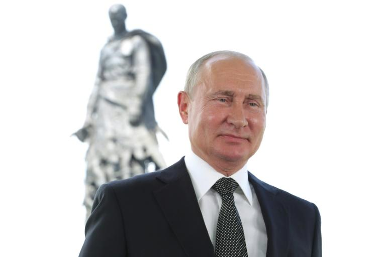 Russian President Vladimir Putin, seen here delivering a national address on June 30, 2020, has triggered fresh outrage in the United States over reports of targeting US troops in Afghanistan (AFP Photo/Mikhail Klimentyev)