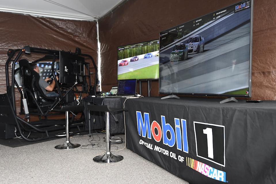 LONG POND, PA - JULY 28: during a Mobil 1 and iRacing event at Pocono Raceway on July 28, 2016 in Long Pond, Pennsylvania. (Photo by Rainier Ehrhardt/NASCAR via Getty Images)