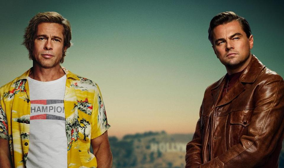 Brad Pitt and Leonardo DiCaprio appear on the first poster for Quentin Tarantino's ninth movie 'Once Upon a Time in Hollywood'. (Credit: Columbia Pictures)