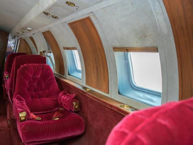 """<p>This plane is truly one-of-a-kind. If you think you can handle the $2 million to $3.5 million auction estimate, go ahead and bid. If you miss out, you'll surely be checking in to <a href=""""https://www.youtube.com/watch?v=e8jAqvmnsIk"""" rel=""""nofollow noopener"""" target=""""_blank"""" data-ylk=""""slk:Heartbreak Hotel"""" class=""""link rapid-noclick-resp"""">Heartbreak Hotel</a>. </p>"""